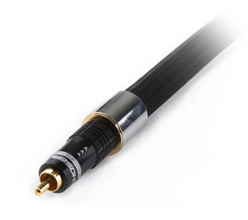 choseal TB-5208 4N OFC Digital Coaxial Cable OD13mm 24Kgold-plated Plug Cable
