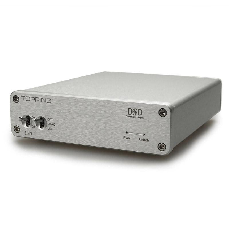 TOPPING D30 DSD Audio Decoder USB DAC Coaxial Optical Fiber XMOS CS4398 24Bit 192KHz