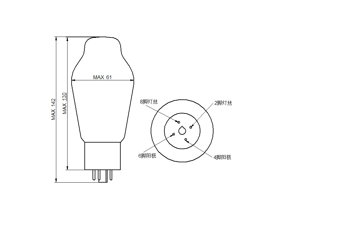 psvane hifi serie 274b rectifier vacuum tube 5u4g