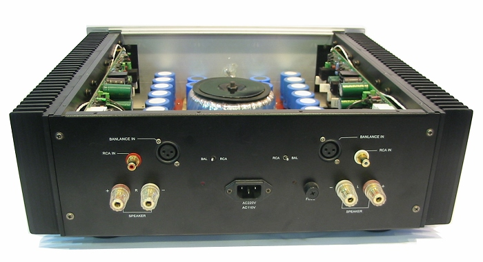 Lite Audio A680 power amplifier balanced XLR Class AB 250W x2