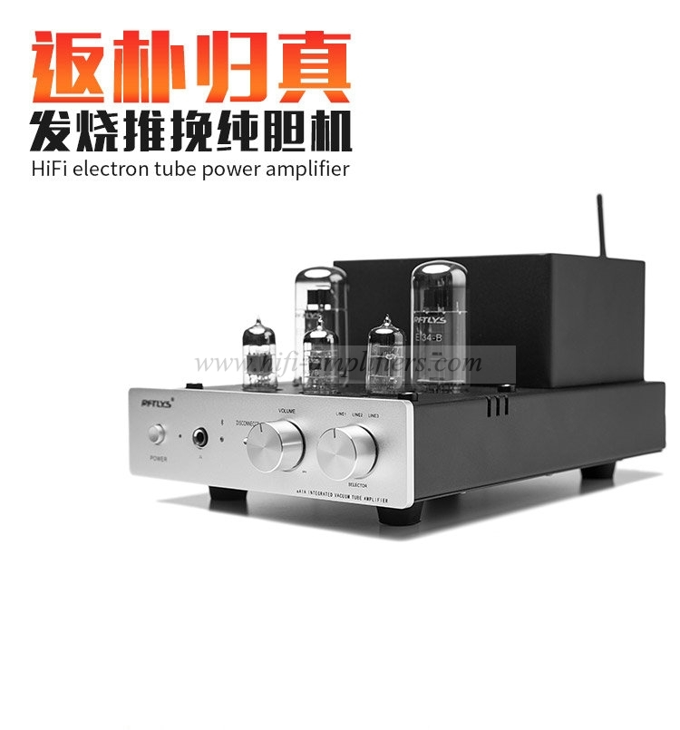 RFTLYS EA1A EL34 tube Headphone Amplifier & HiFi Integrated Amp with Bluetooth
