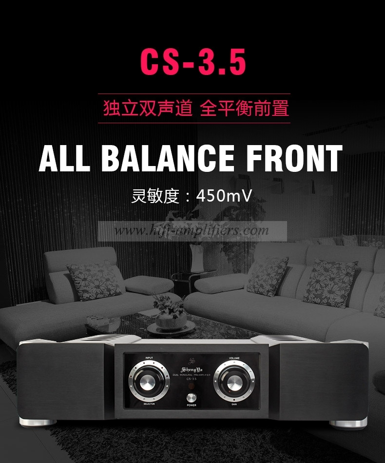 Shengya CS-3.5 Pure Class A Professional Amp Hybrid Borne Power Amplifier