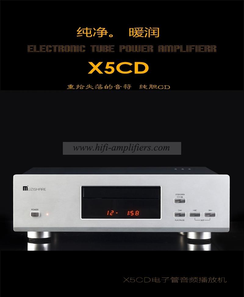 MUZISHARE X5CD Hi-Fi CD HDCD Player Vacuum Tube 12AU7 24Bit/192kHz With Remote