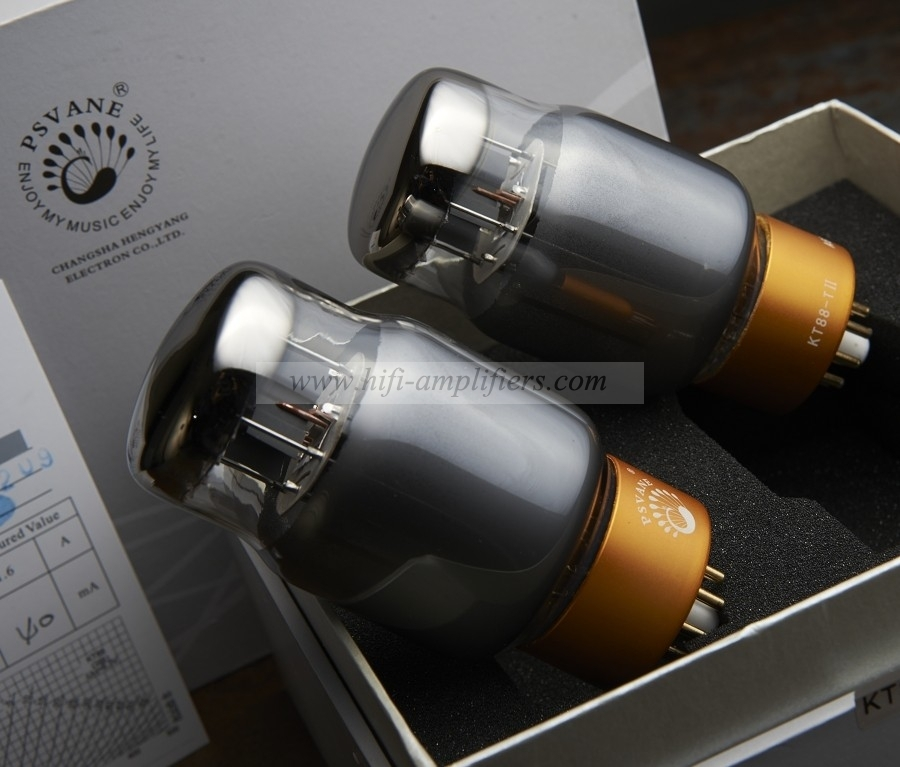PSVANE KT88-TII Collections Vacuum Tube Matched Pair Gray Valve