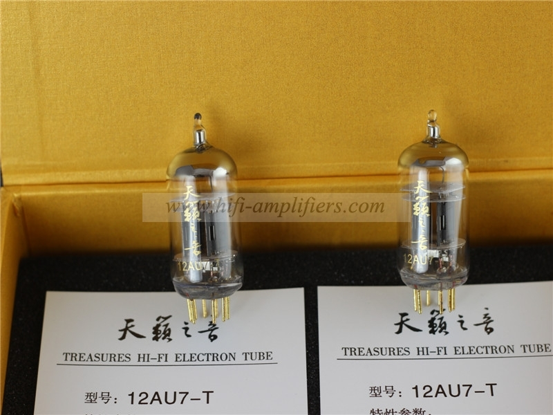 Shuguang Nature Sound 12AU7-T vacuum tube Matched Pair Gold pins