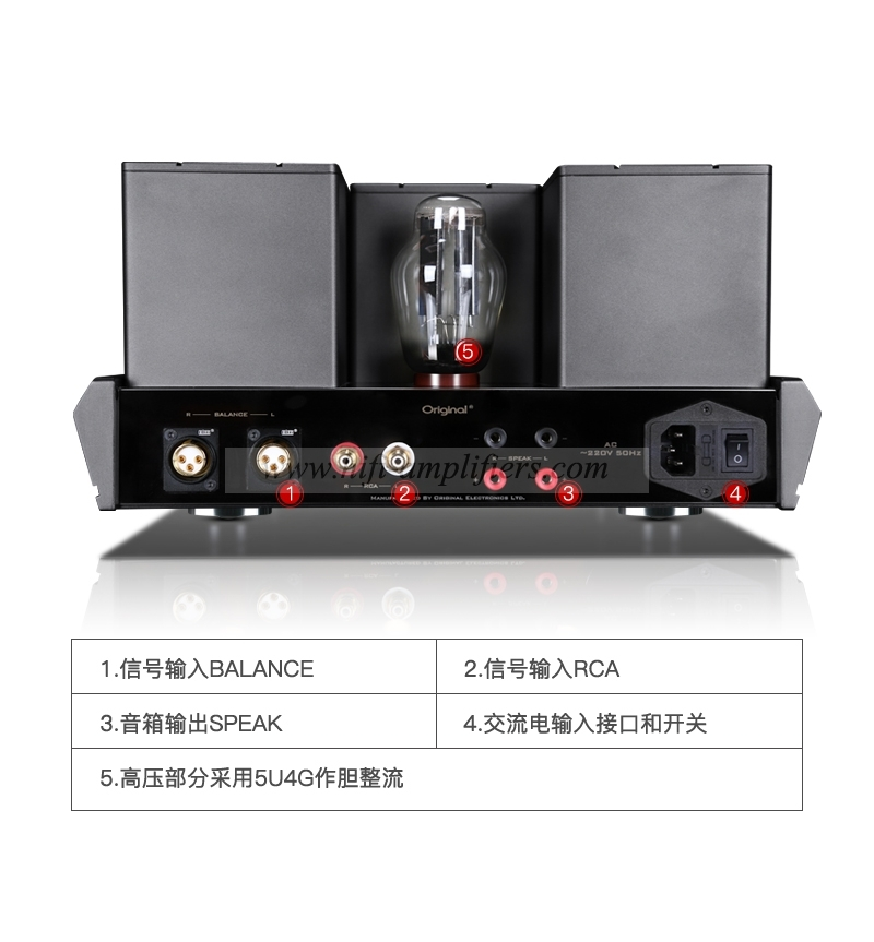 Original OPA-2A 2A3 Tube power Amplifier HiFi Headphone Amplifier
