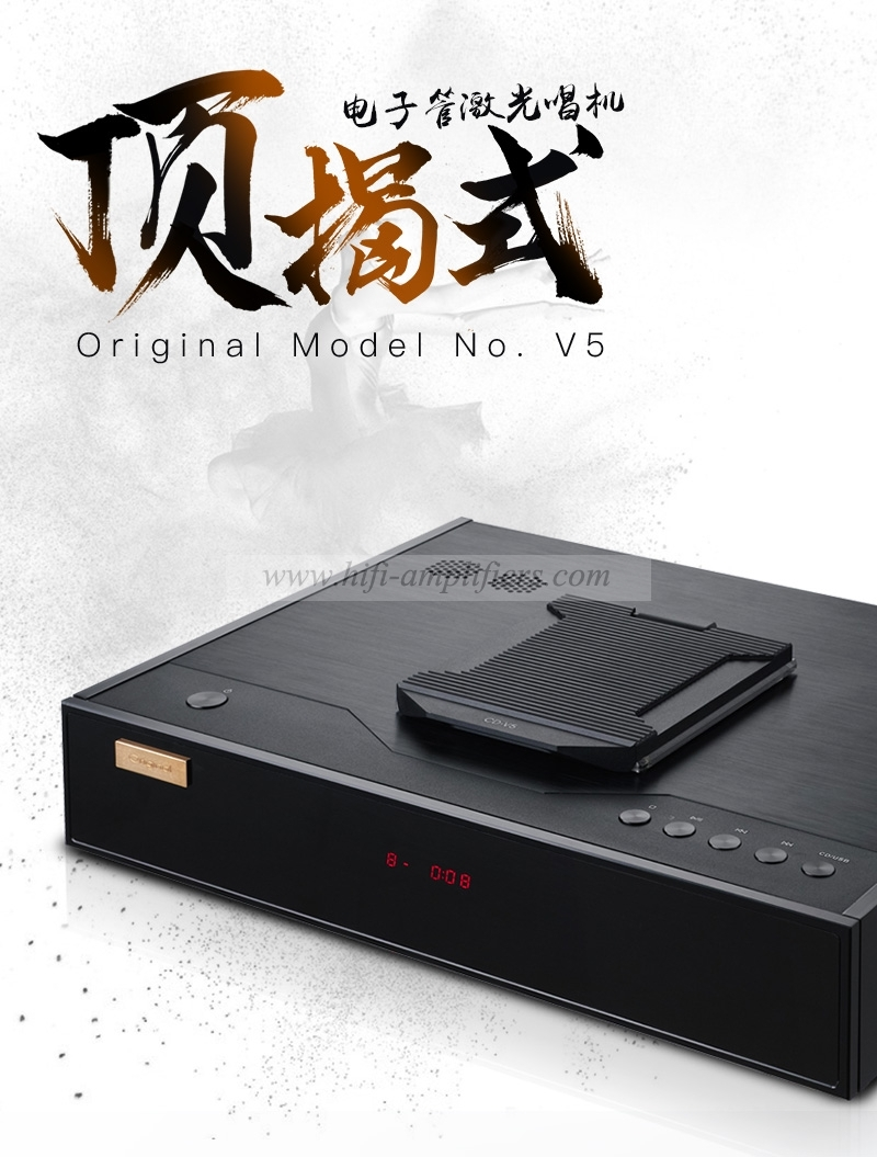 Original V5 HIFi Top-opening tube CD Player GE5670  32Bit/192kHz  With USB DAC