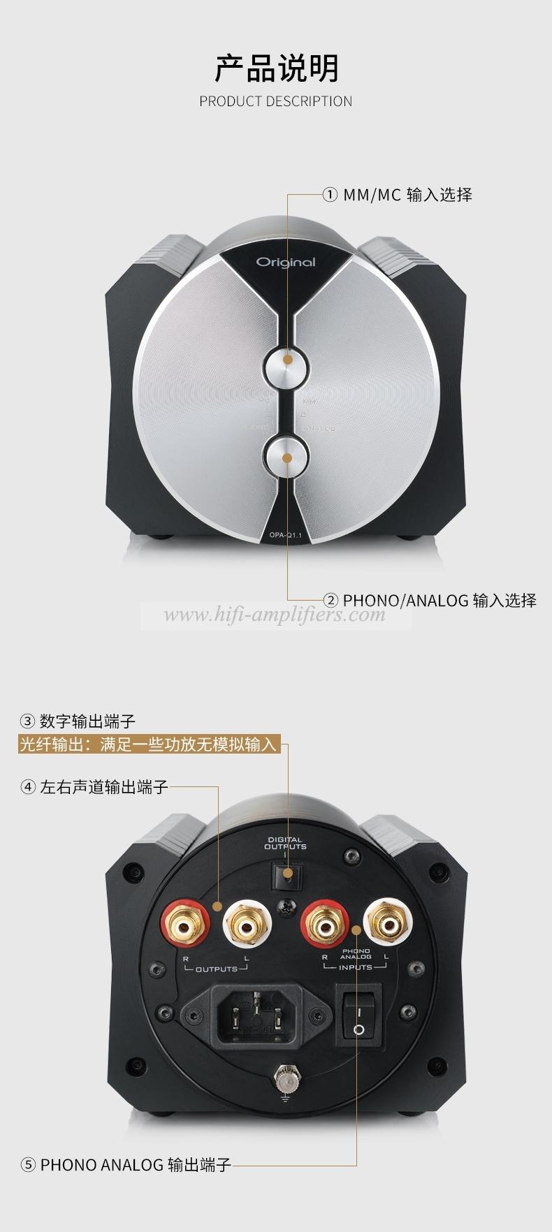 Original OPA-Q1.1 HIFi MM/MC phono Amplifier Single Head Amplifier