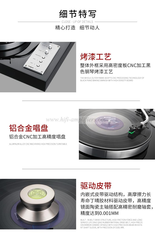 Original LP-9.1 black glue turntable Retro phonograph LP