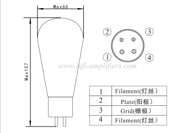Psvane Acme Serie 300B Hi-end Vacuum Tube Replace WE300B Matched Pair