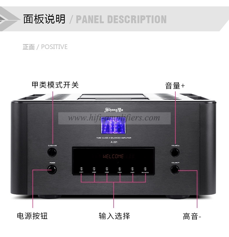 ShengYa A-221 HiFi Class A Integrated Amplifier Transistor & Vaccum tube HYBRID Amp