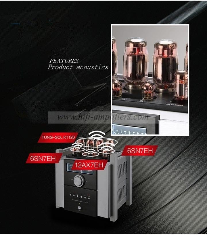 YAQIN MS-120 HiFi Audio Integrated Amp Vacuum tube KT120x4 Amplifier push-pull
