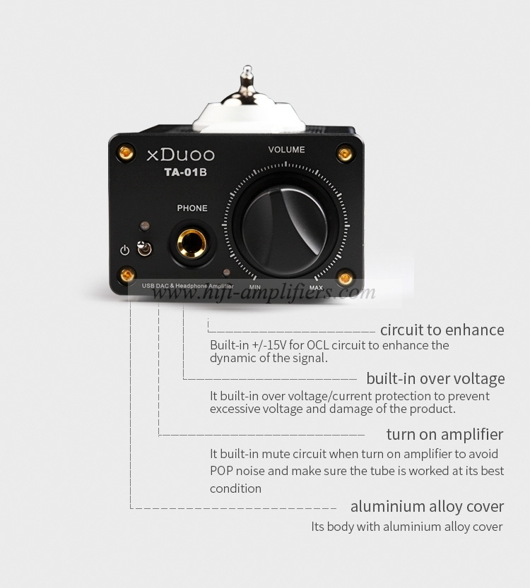 xDuoo TA-01B 12AU7 tub  Headphone Amplifier Portable & High performance USB DAC