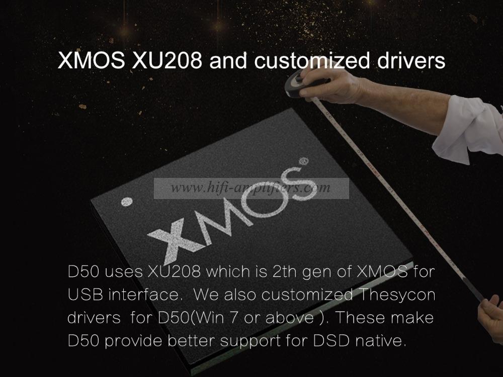 Topping D50 DSD512 ES9038 Hard Solution HiFi XMOS USB DAC