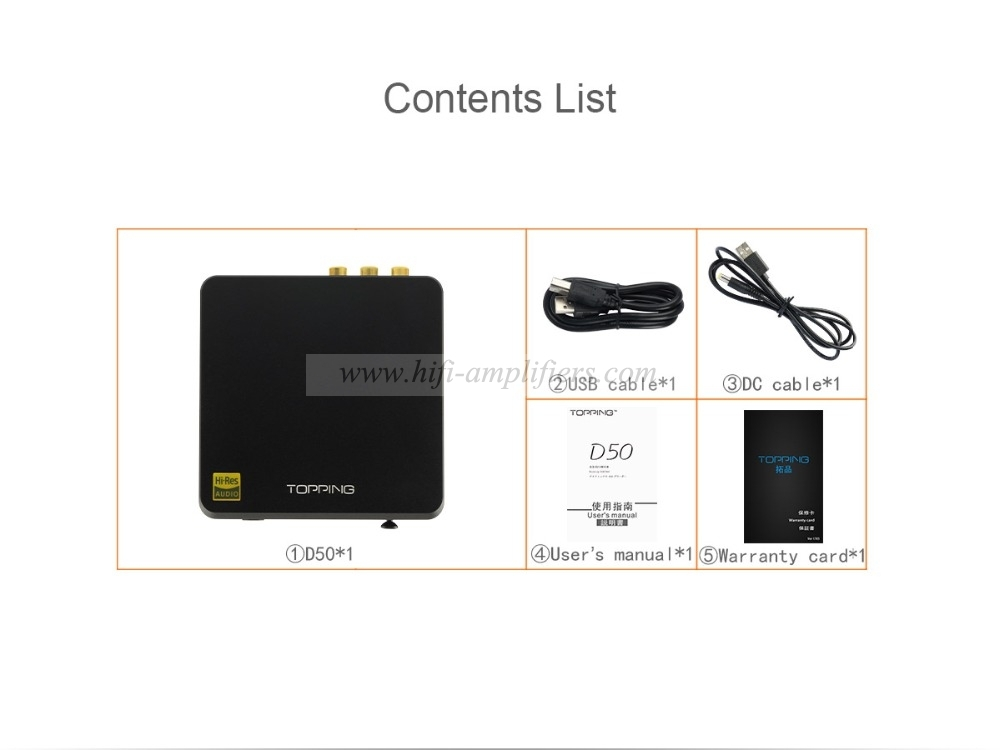 Topping D50 DSD512 ES9038 Hard Solution HiFi XMOS