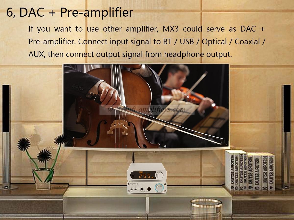 TOPPING MX3 USB DAC Audio Amplifier Hifi Bluetooth DAC Amp PCM5102A