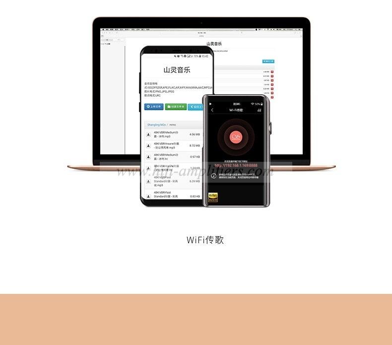 SHANLING M2X AK4490EN DSD256 32bit /384kHz Dual Bluetooth AptX LDAC Portable Music Player