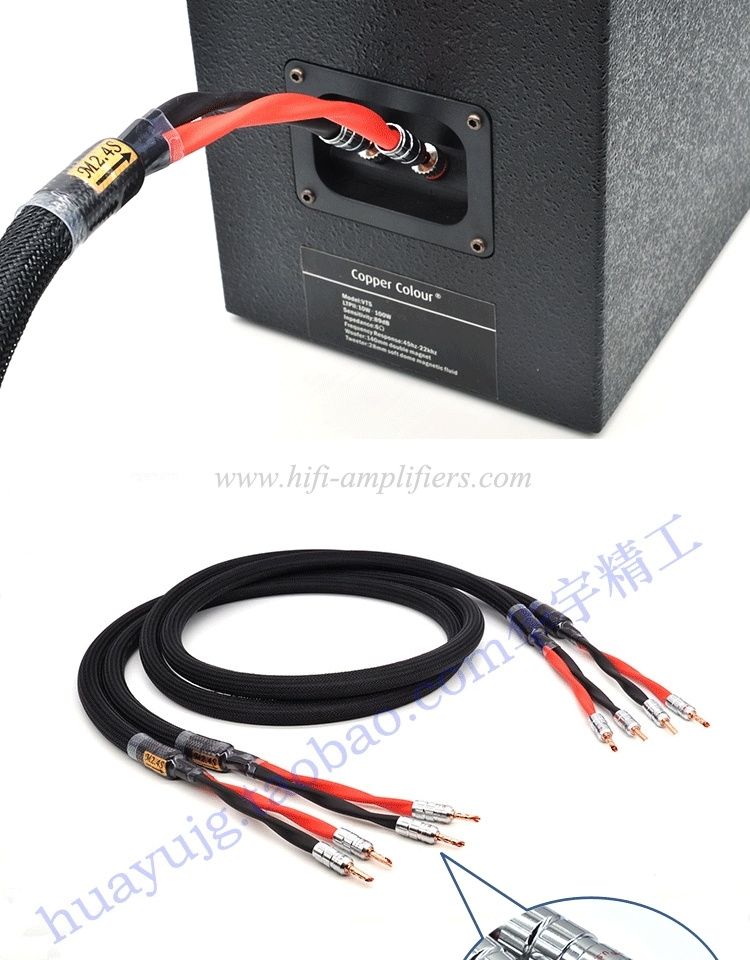 Monster M2.4S 6N OCC Audiophile  HIFI Speaker Cable Banana Head AV Amplifier Audio Cable