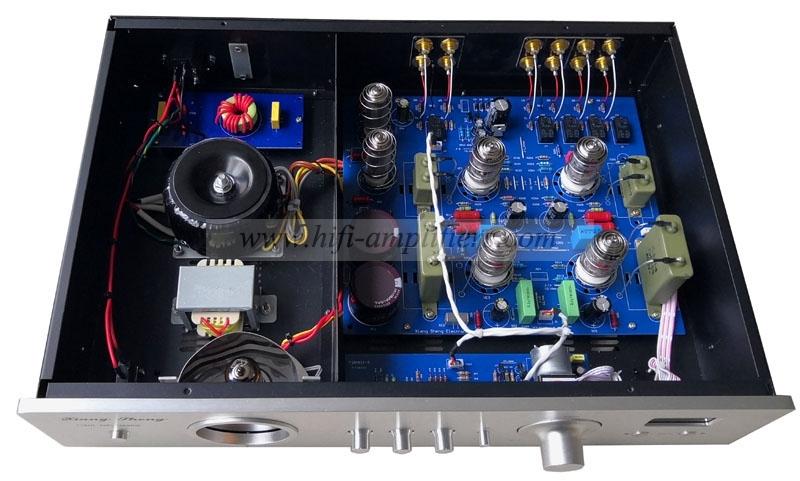 XiangSheng 728A HiFi Vacuum 12AT7/12AU7 Tube Pre-Amplifier Stereo HiFi Preamp Audio Processor Remote Version