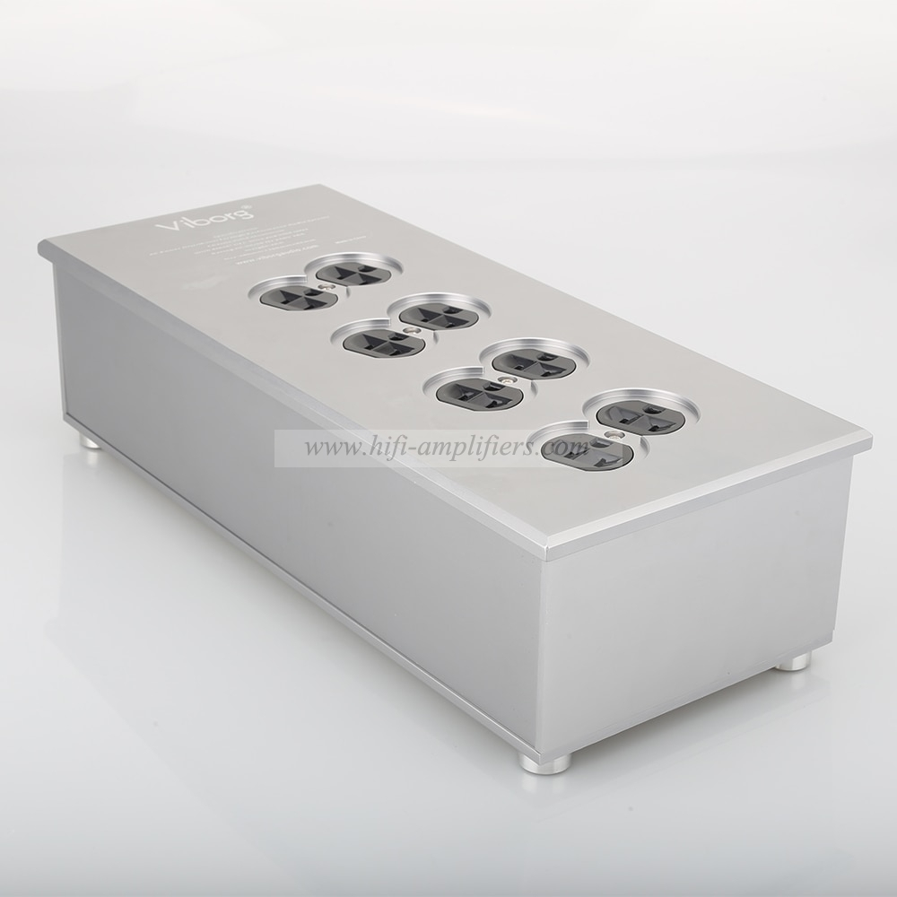 Viborg VM80 HiFi Power Filter Plant US Socket 8 Ways AC Power Conditioner Audiophile Power Purifier US AC Power bar Distributor
