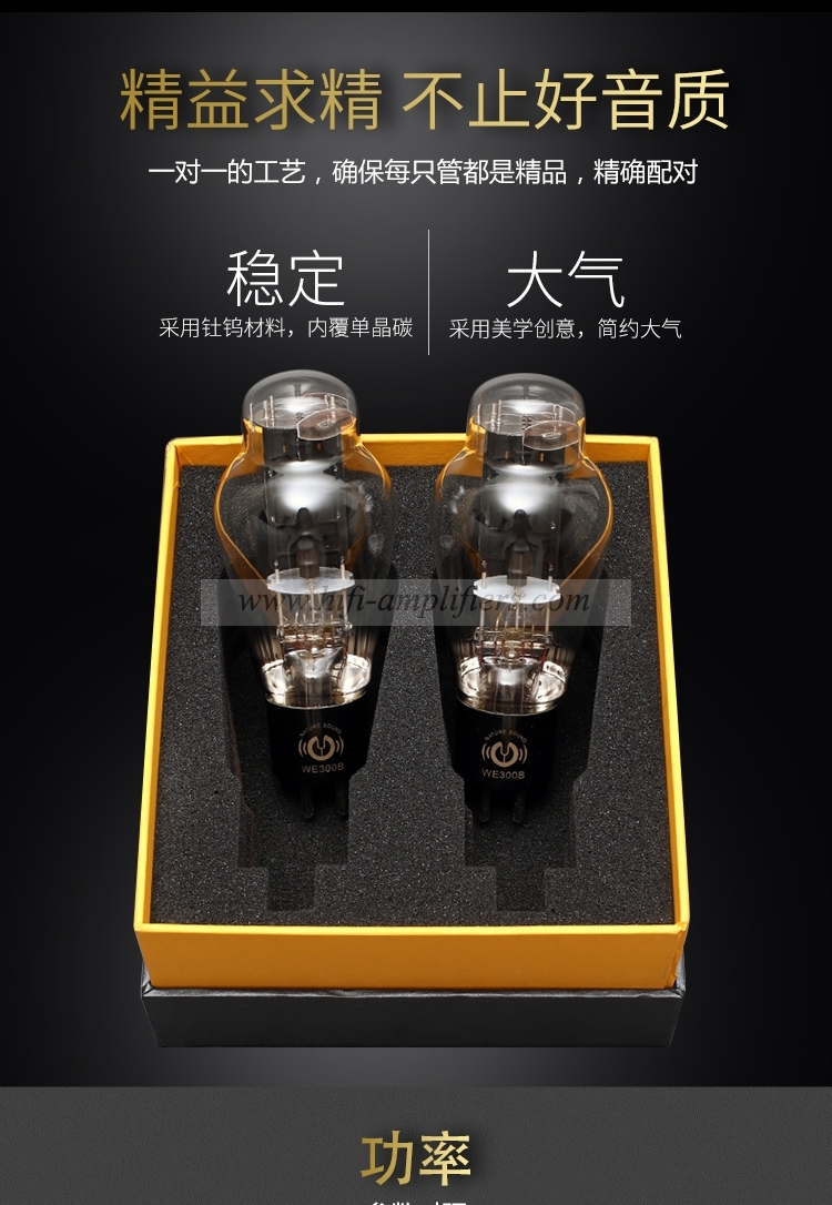 LINLAITUBE WE300B Western Electric Classic Replica Vacuum Tube Matched Pair Valve 300B