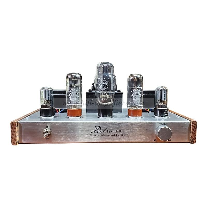 Laochen EL34 Bluetooth 5.0 Tube Amplifier Class A handmade Single-ended lamp Silver Amp OCEL34S OldChen