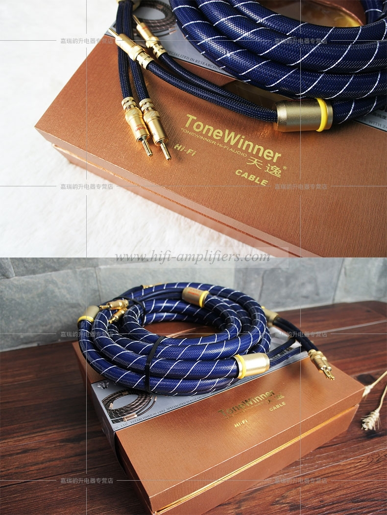 ToneWinner SC-6 Audiophile Aduio Speakers Cables pair