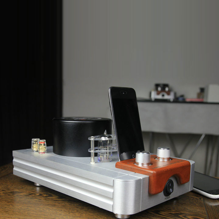 Qinpu A-6800 Tube Amp Desktop Amplifier Bluetooth Wireless Amplifier with USB DAC A