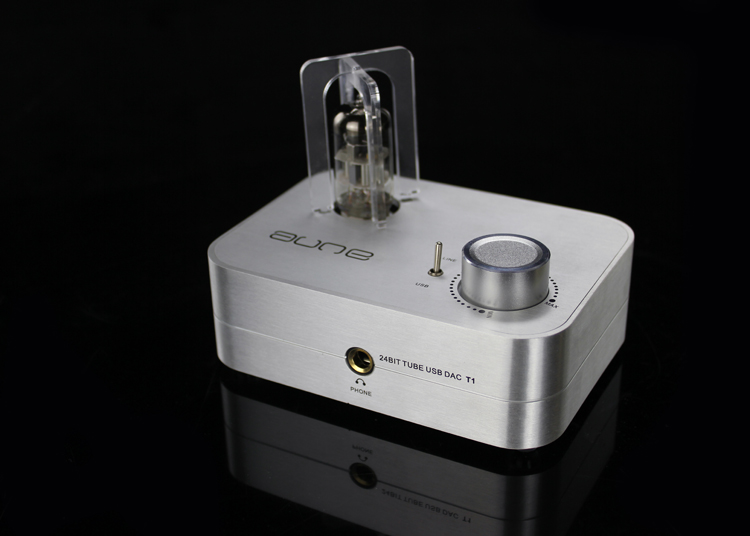 AUNE T1 24bit/96kHz Tube USB DAC/Headphone Amplifier Brand New Sliver