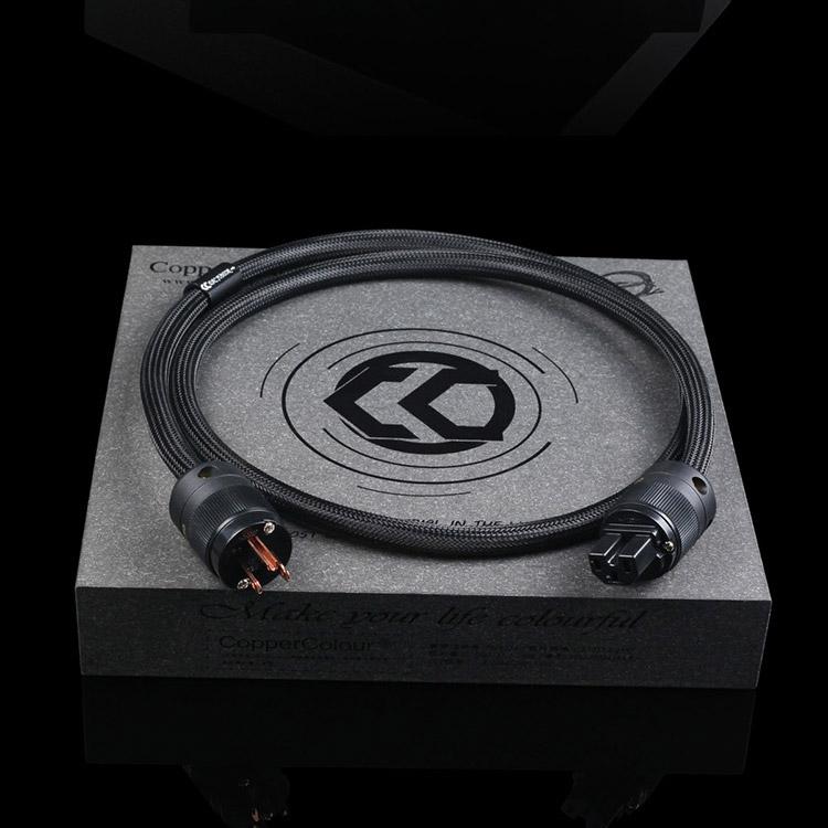 CopperColour CC DAC JUNIOR POWERCORD Audiophile Power Cable US/EUR Schuko Plug