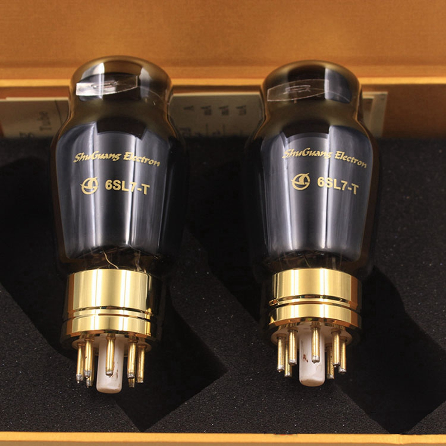 Shuguang Treasure 6SL7-T vacuum tubes Best Matched Pair Replace 6N9P/6H9C