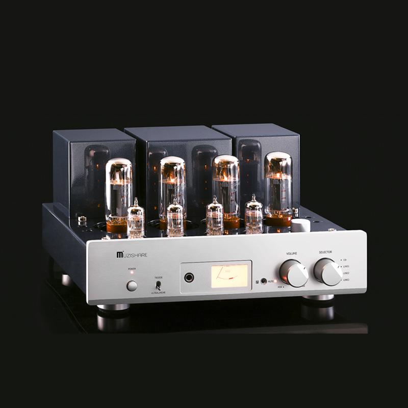 MUZISHARE X5 EL34 x4 Vacuum tube Integrated Amplifier Push-Pull With Remote