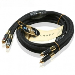 Choseal AB-5408 Audiophile Audio Cable 1.5M 6N OCC 24K gold-plated Digital Coaxial Cable Pair