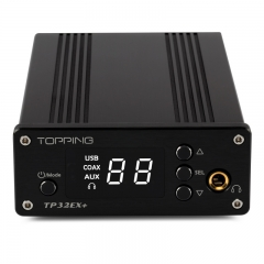 TOPPING TP32EX+ Desktop Digital Power Amplifier Audio USB DAC Amp CS4392 Headphone Amplifier