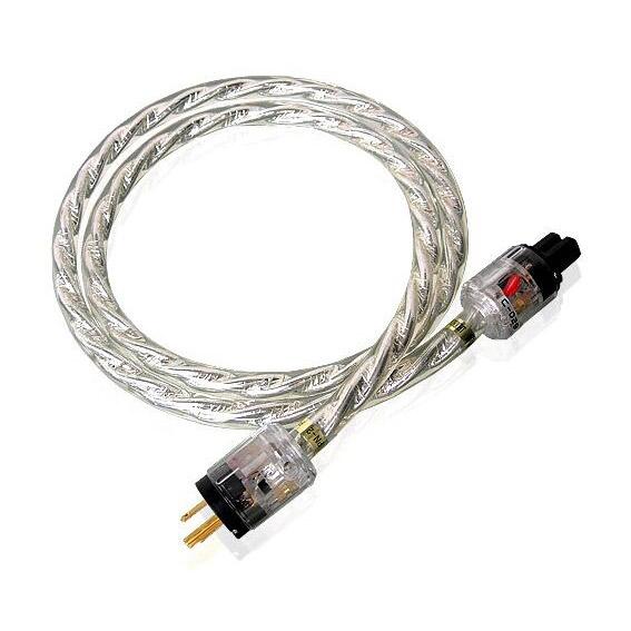 SoundRight PN-2 Silver Angle Hifi Power Cord US/EUR Plug 1.5m