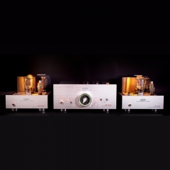 Line Magnetic LM-512CA tube Preamp + LM-503PA Dual Monoblock Power Amplifier Valve