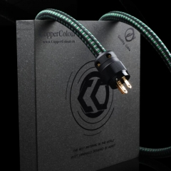 Copper Colour CC FOND Audiophile Power Cable OCC Powercord NZ/US/EUR Schuko Plug