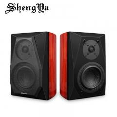Sheangya H5 HIFI Speaker 2.0 Wooden Passive Bookshelf Speaker 6.5 inch Speaker Pair