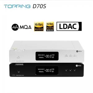 TOPPING D70S MQA Decoder 2*AK4497 Bluetooth 5.0 32Bit/768K DSD512 Hi-Res Hifi Music DAC with Remote Control
