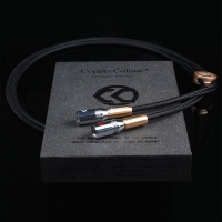 COPPER COLOUR CC Alpha Audiophile Cables XLR connector HiFi audio interconnect Cord Pair