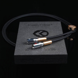 COPPER COLOUR CC Alpha Audiophile Cables XLR connector HiFi audio interconnect Cord Pair