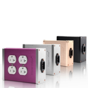 CopperColour CC LASE power Socket Audiophile copper US Plug OFC socket 4 Jack