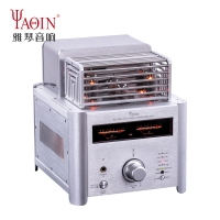 YAQIN MS-6P14 Vacuum Tube HIFI Stereo Power Amplifier Bluetooth Desktop amplifier With Remote
