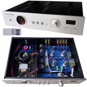 XiangSheng 728A HiFi Vacuum 12AT7/12AU7 Tube Pre-Amplifier Stereo HiFi Preamp Audio Processor Remote Version