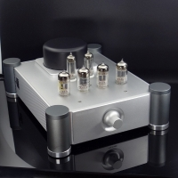 BRZHIFI 12AX7 12AU7 Vacuum Tube Preamp Home Stereo Audio Preamplifier Inspired by Shigeru Wada
