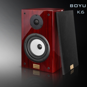 REISONG Boyuu K6 Passive Bookshelf Loudspeaker HiFi Wood Audiophile Speakers Pair