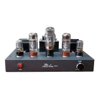 LaoChen EL34 Tube Amplifier Single-Ended Class A Handmade Black Bluetooth Amplifier OC34 Oldchen