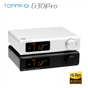 TOPPING D30pro 4×CS43198 DAC XU208 DSD256 & PCM384kHz Hi-Res Decoder D30 PRO Preamplifier Function with Remote Control