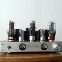 OldBuffalo KT66 Tube Amplifier HIFI Stereo Power Amp with UV Meter Brand New