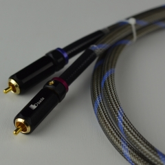 Bada S-8L Silver/SCC Hybrid Hi-end Audio RCA Cable 1 Meter Pair
